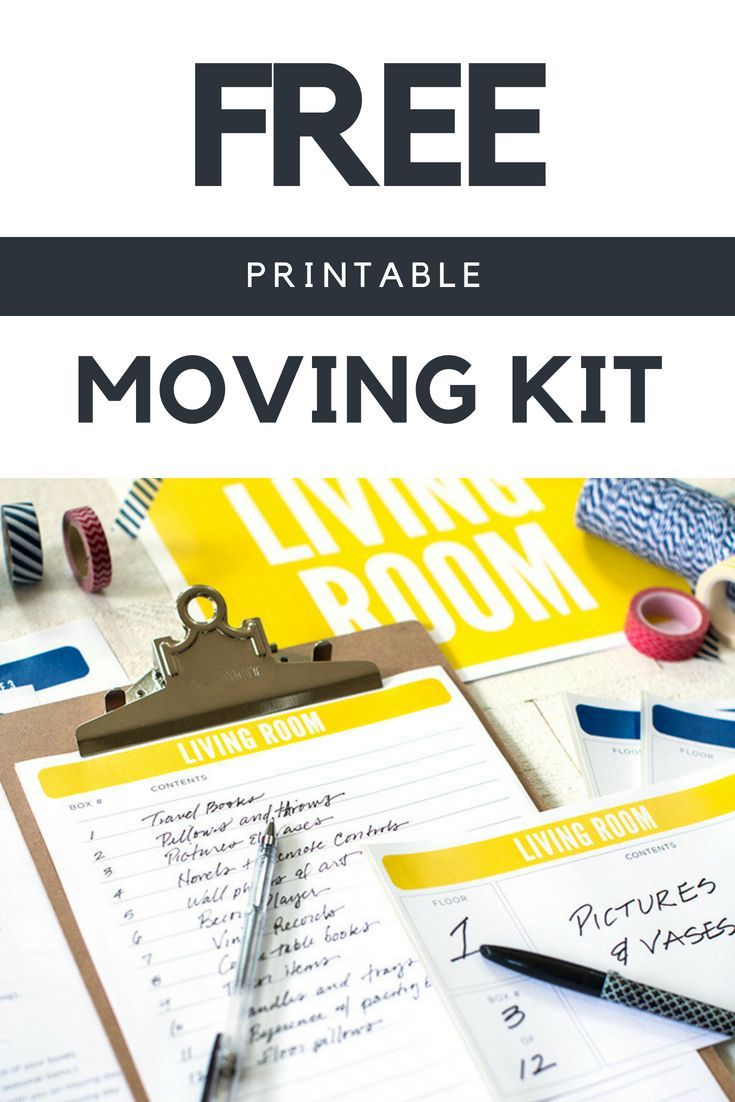The Ultimate Moving Checklist + Free Moving Printables Kit is part of Moving checklist, Moving printables, Moving checklist printable, Moving boxes, Printable moving labels, Moving kit - A moving checklist is an invaluable way to stay on task during a relocation  Whether you're moving out of state or into a new house around the block, grab our free moving list and moving printables kit to help you stay organized