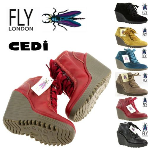 Fly London Casual Shoes Cedi 100% Leather, Wedge Heel, Many Colours, Check it!