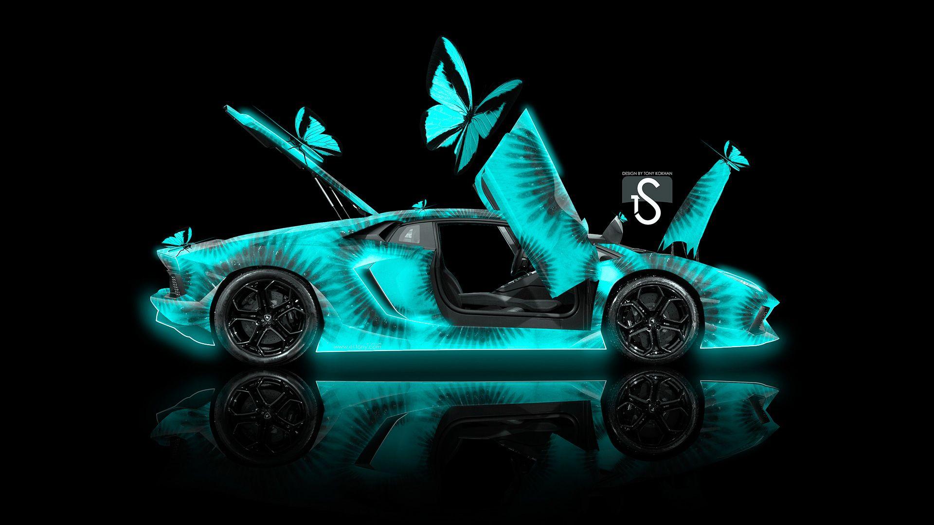Exceptionnel Lamborghini Aventador Fantasy Azure Butterfly Kiwi Car 2013