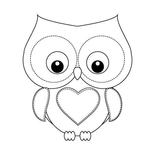 Pin van Adi op Owls Owl coloring