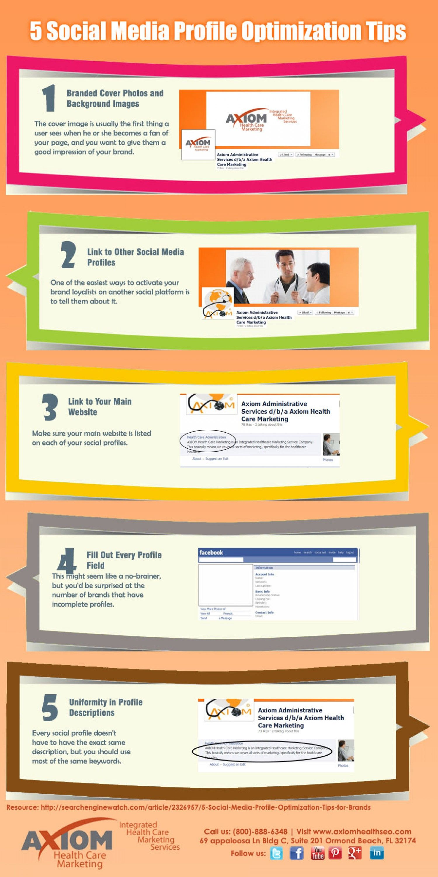 Socialmedia Profile Optimization Tips  Infografic  Social