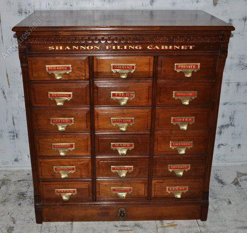 Antique Walnut Shannon Filing Cabinet