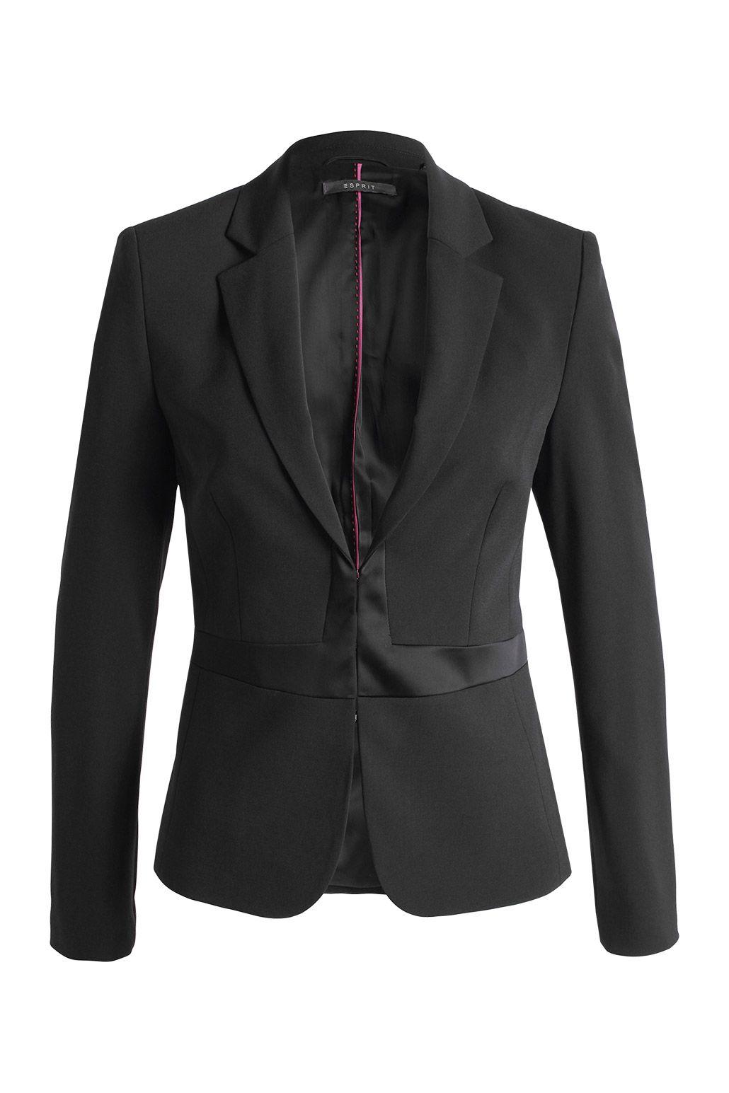 Elegant crêpe #blazer by #Esprit