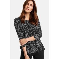 Photo of 3/4 sleeve shirt with art print black Gerry WeberGerry Weber