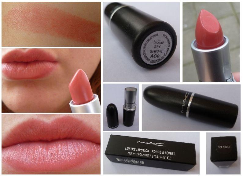 mac see sheer lipstick beauty galore pinterest macs
