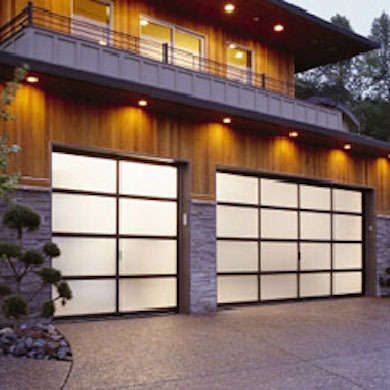 Clopay garage doors Made in America. Model shown Avante Collection frosted glass garage door with bronze anodized aluminum frame. .clopay.com & 17 Brands Born and Loved in the U.S.A. - Bob Vila. Clopay garage ...