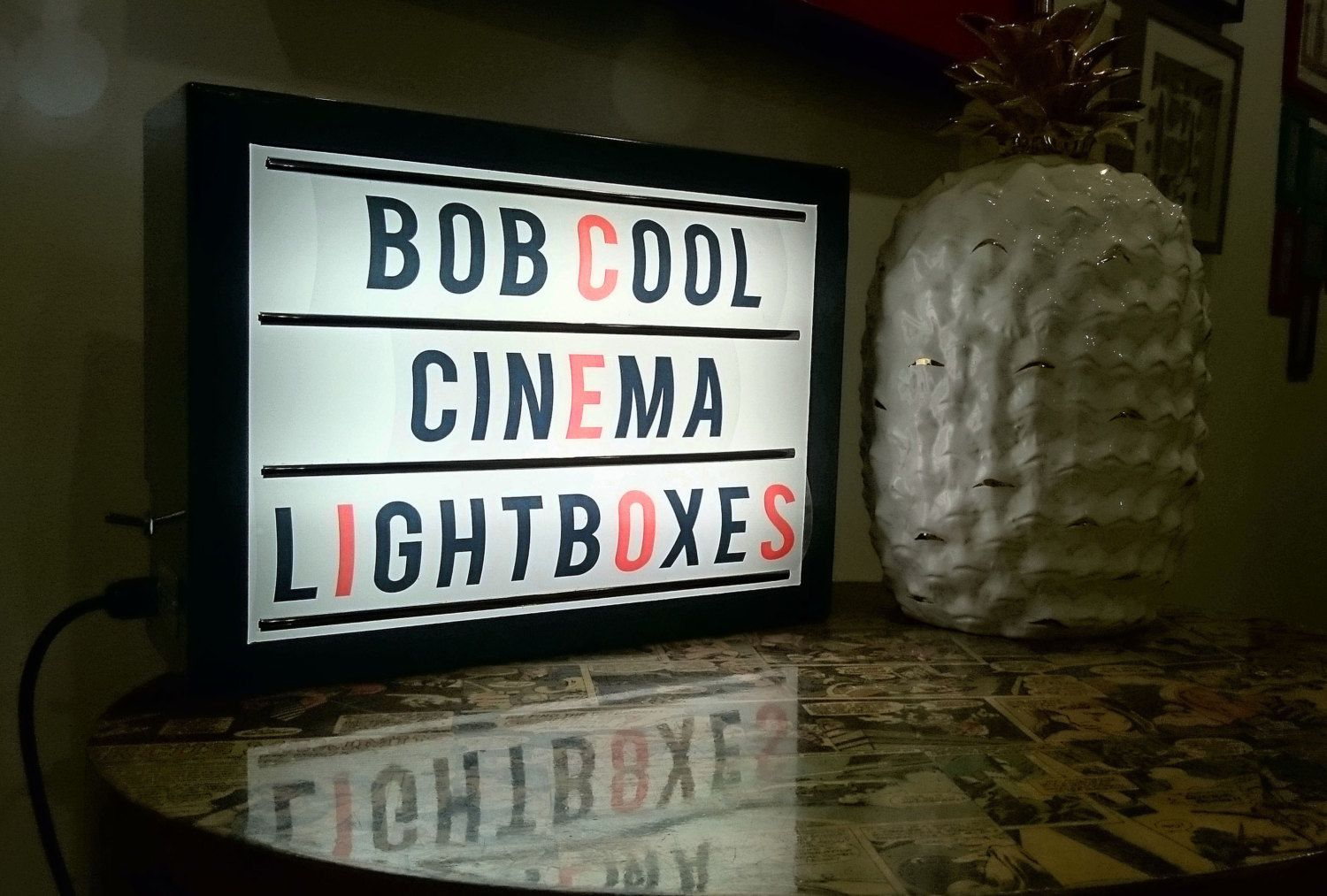 Uk Alternative Retro Cinema Light Box With A Interchangeable Letter Pack Make Any Words Yourself Cool Desk Lamp Wall Sign Or Wall Signs Light Box Event Sign