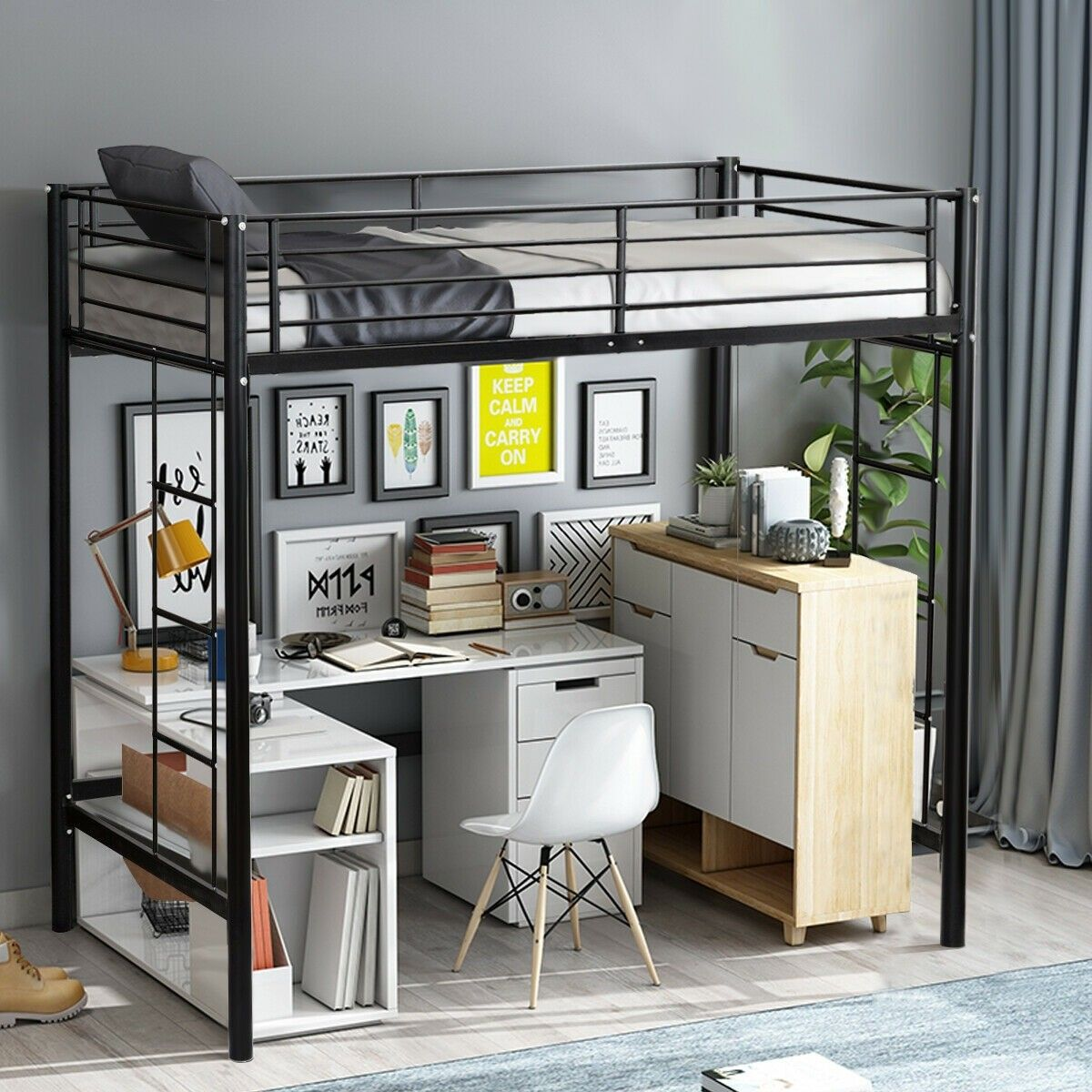 Twin Loft Bed Metal Bunk Ladder Beds For Bedroom Dorm Loft Bed Frame Twin Loft Bed Loft Bed