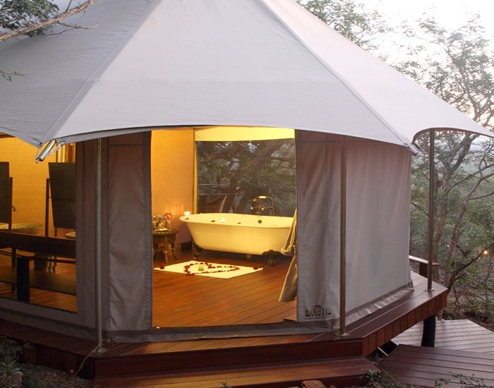 Bathing yurt. Would be nice to have the bathroom where you do the rest of