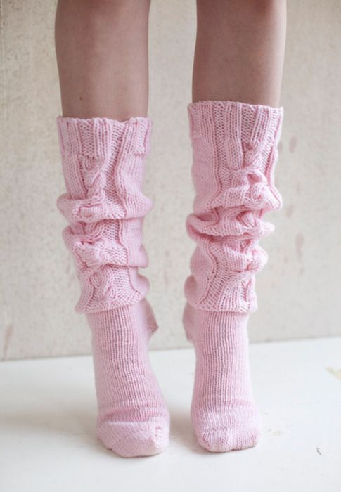 Girlyfluff Rosa Socken Pretty In Pink Stricken Und Hakeln