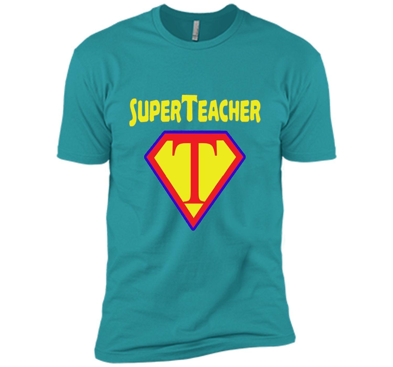 Superteacher Superhero Funny Teacher Gift T-shirt | Shirts, Shorts ...