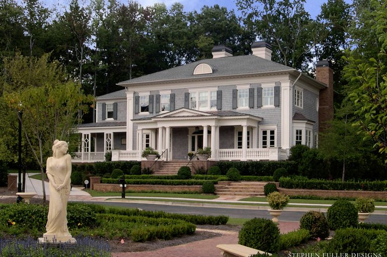 Neoclassical House Styles Design Colonial Exterior Traditional Exterior House Styles
