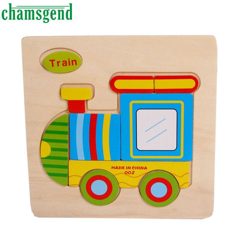 높은 품질의 나무 귀여운 기차 퍼즐 교육 발달 아기 어린이 교육 장난감 Aug24