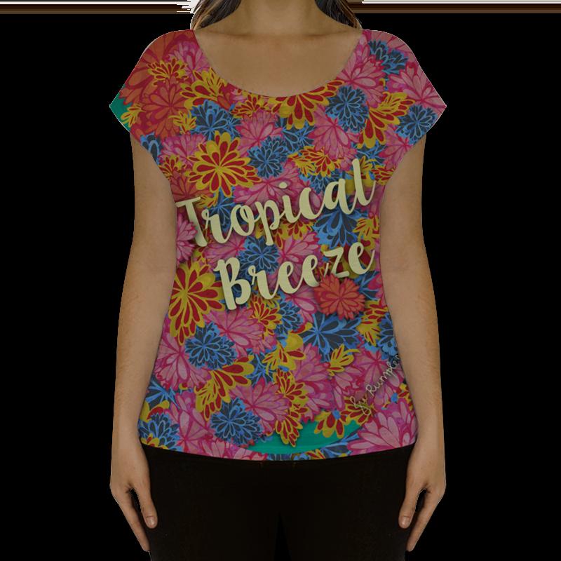 Camiseta fullprint Tropical Breeze de @jurumple | Colab55
