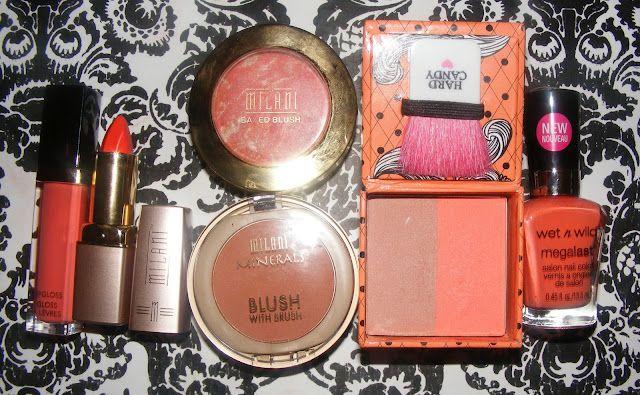 Orange and Coral Makeup Haul
