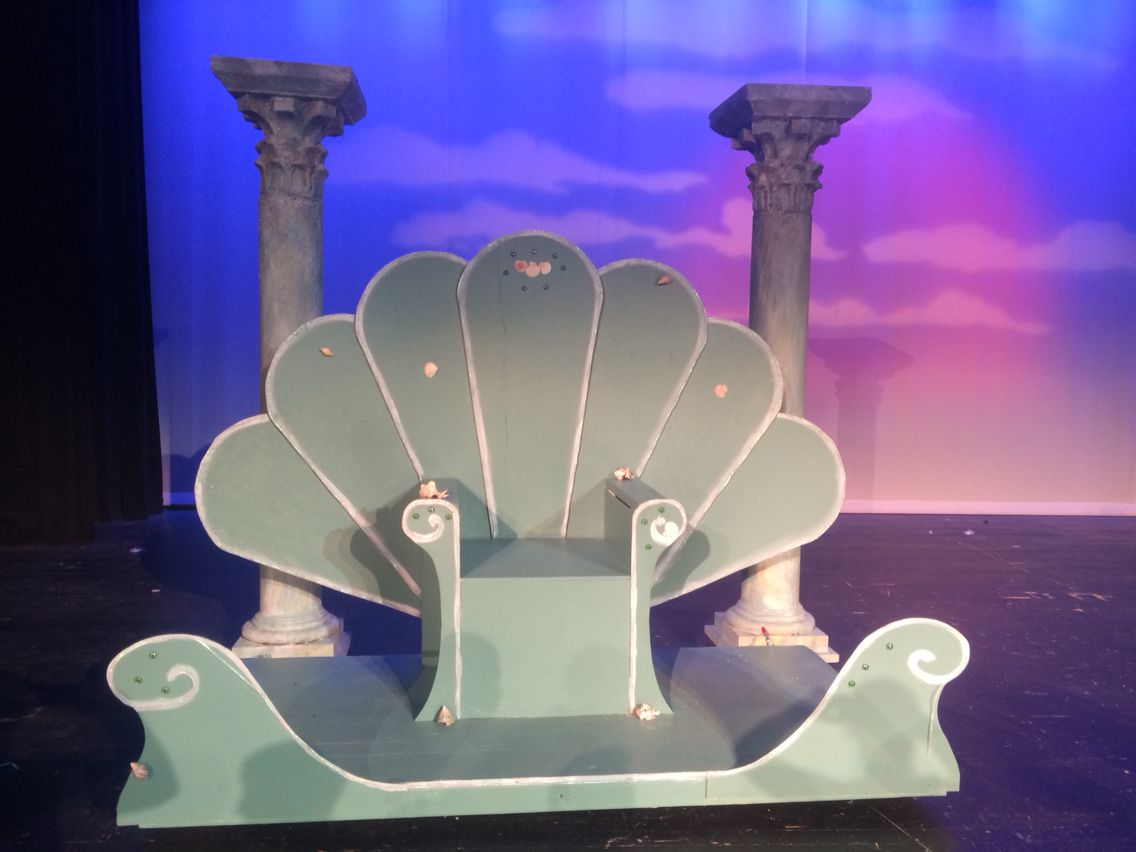 king triton u0027s throne constructed by one of the crew kid dads it