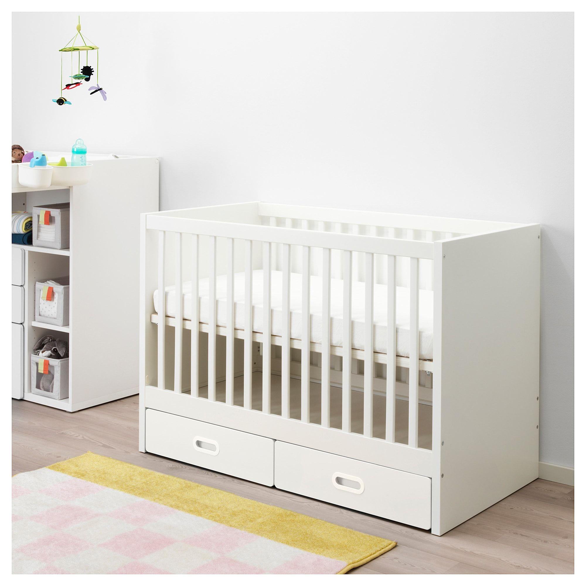 Stuva Fritids Babybedje Met Lades Wit Ikea En 2020 Lit Bebe Lit Bebe Ikea Lit Bebe Blanc