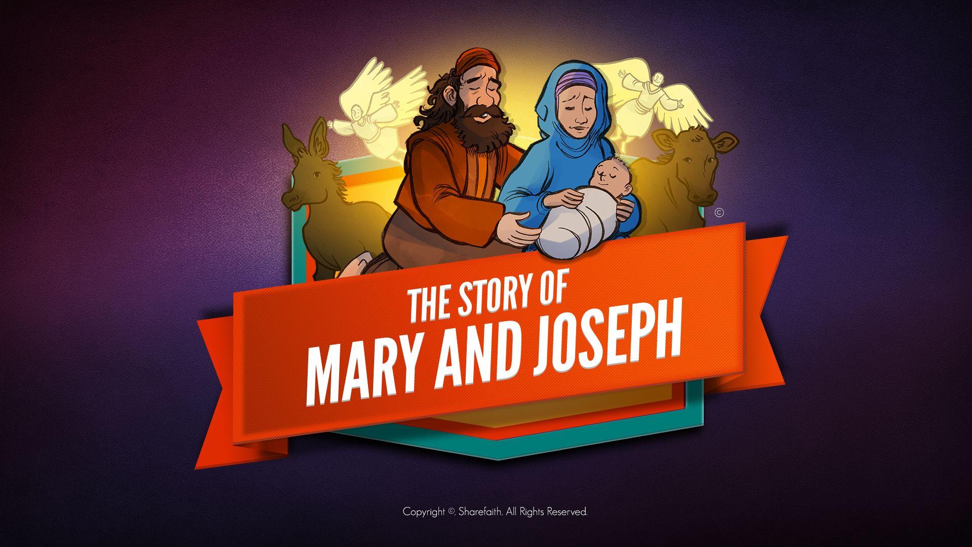 Luke 2 Mary And Joseph Christmas Kids Bible Story This
