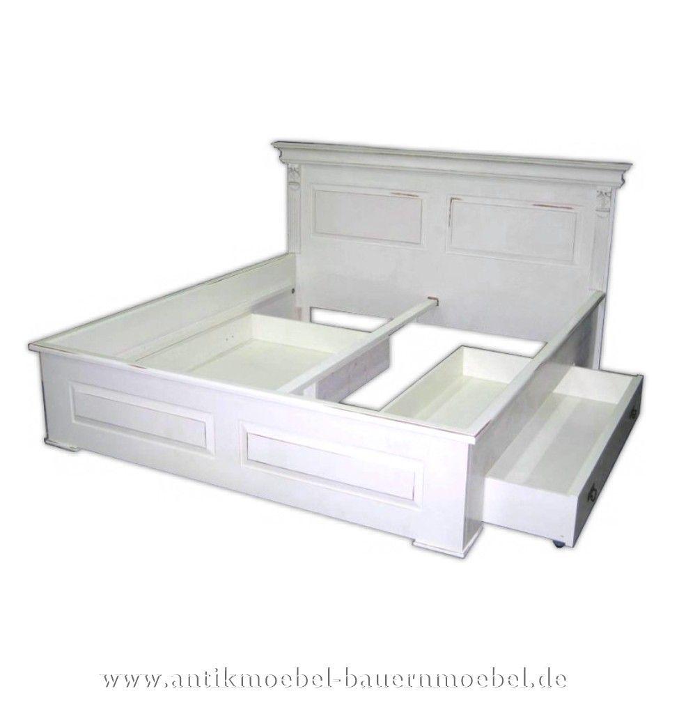 Bet 11 D Bett Bed Doppelbett Landhausstil Weiss Masse 110 Cm