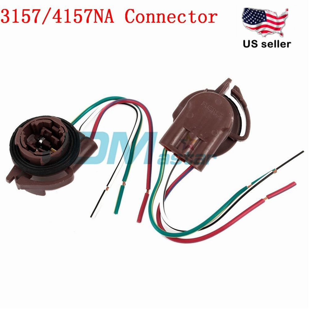 JDM ASTAR 3157 4157NA Bulb Socket Turn Signal Light Harness Wire ...