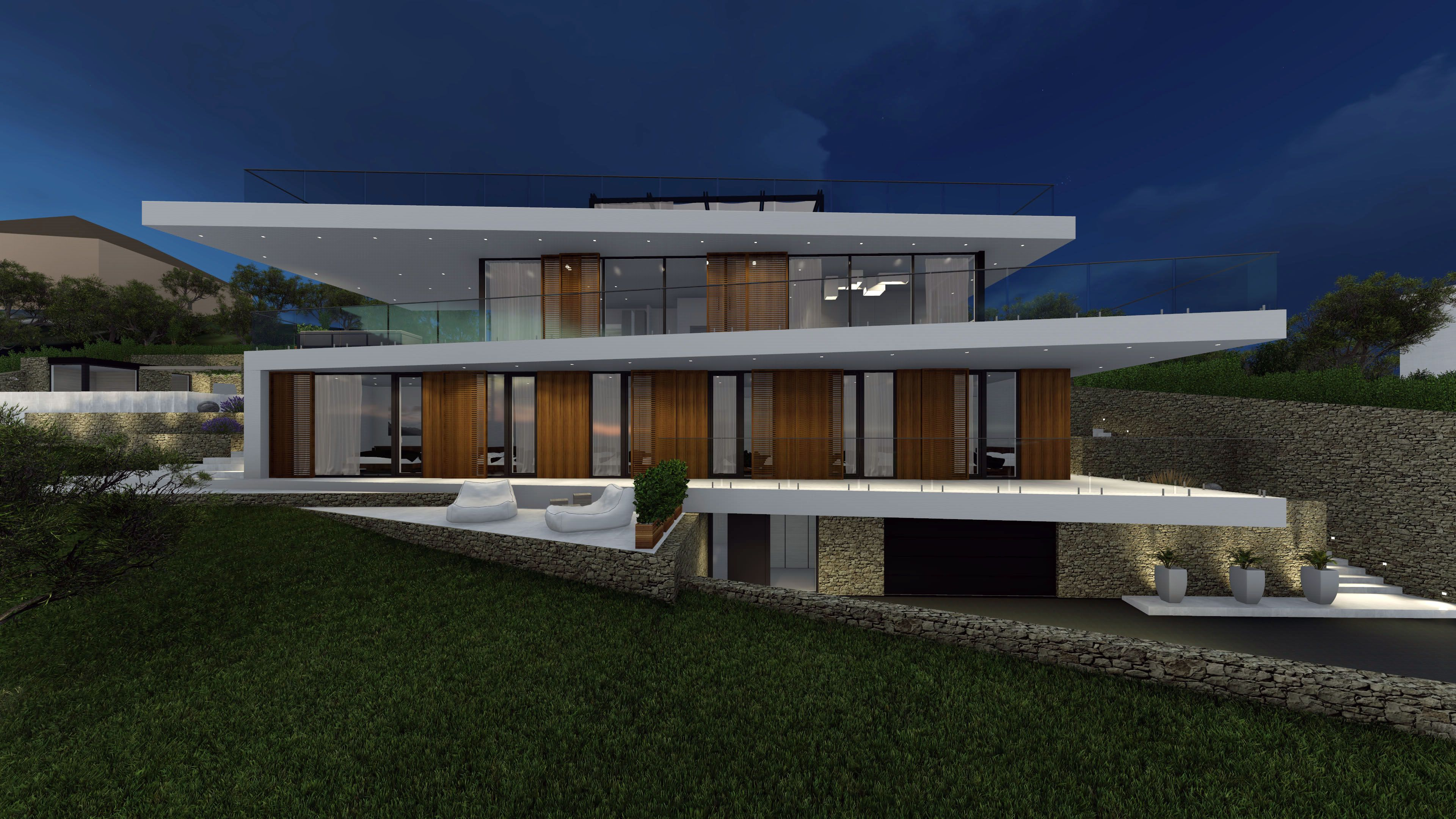 Modern villa in french riviera by ng architects www ngarchitects eu