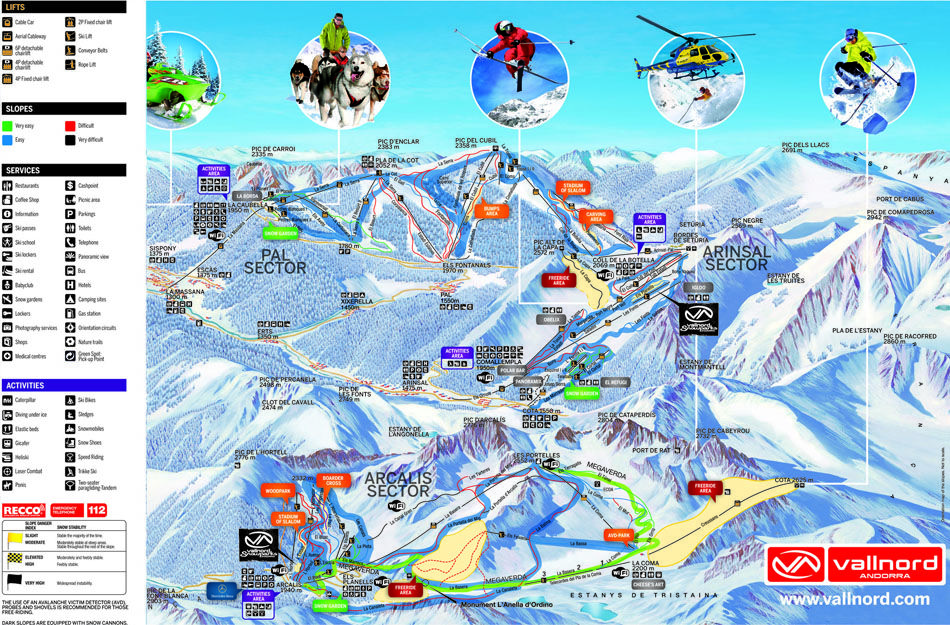 Vallnord Piste Map Andorra skiing Pinterest Andorra and Resorts