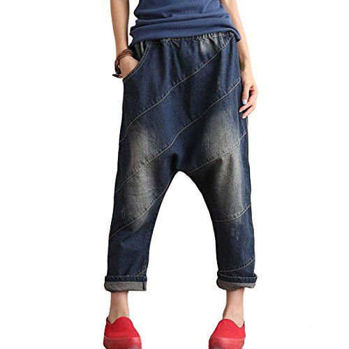$40 Aeneontrue Women's 2016 New Denim Pants with Elastic Wais...