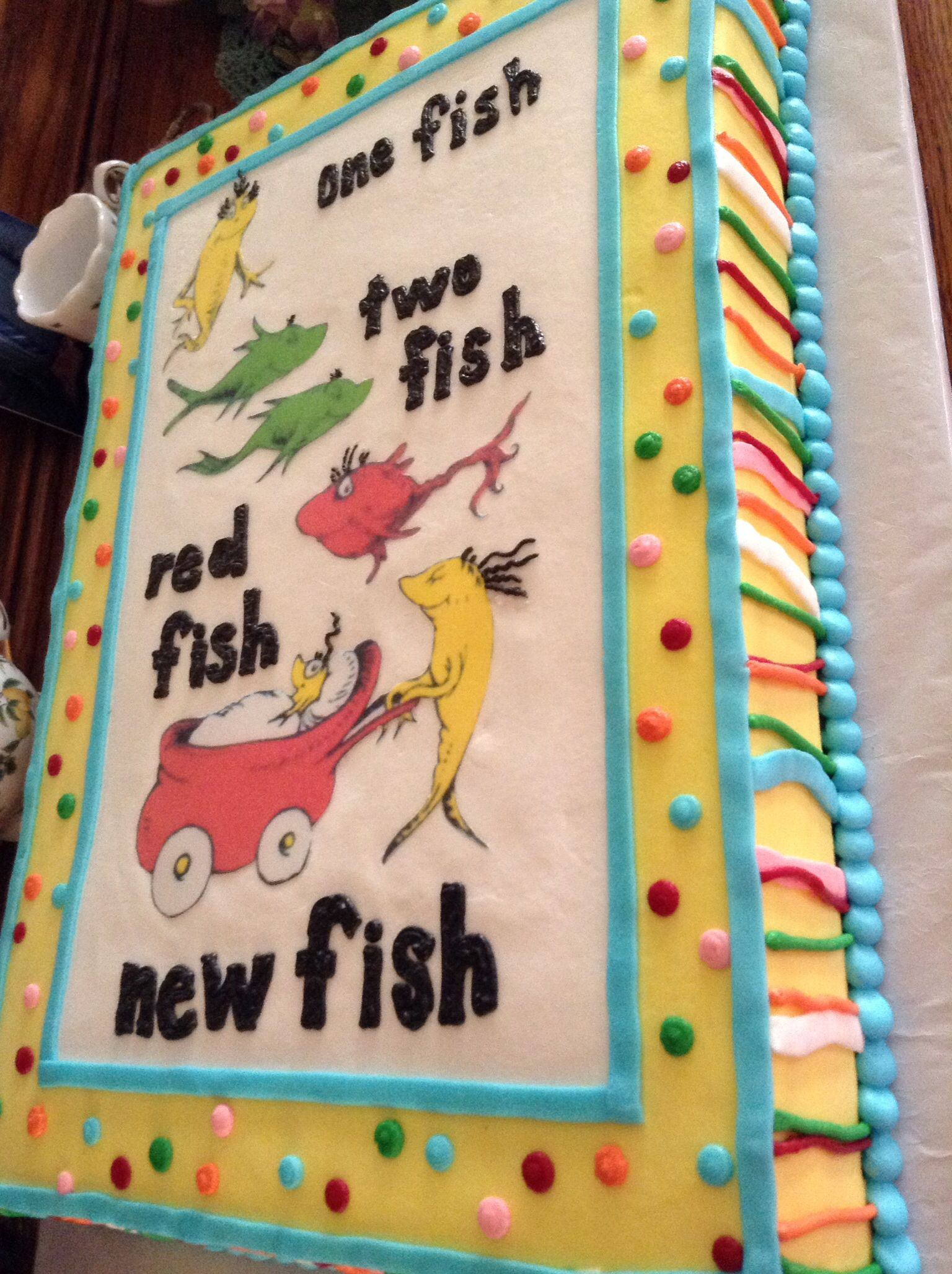 Dr Seuss Baby Shower Cake With Images Seuss Baby Shower Cake
