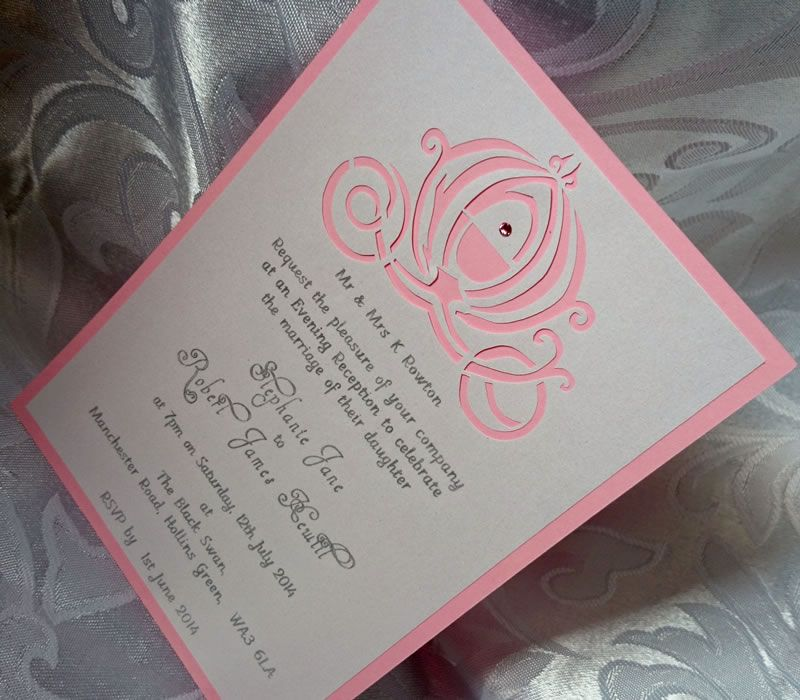 Personalized wedding invitations from Silhouette Invites, Manchester ...
