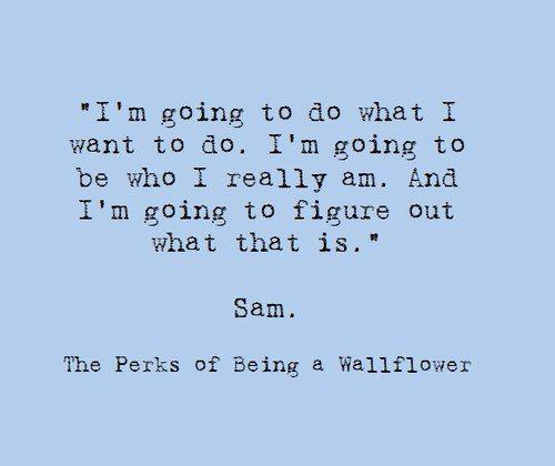 samthe perks of being a wallflower inspirational