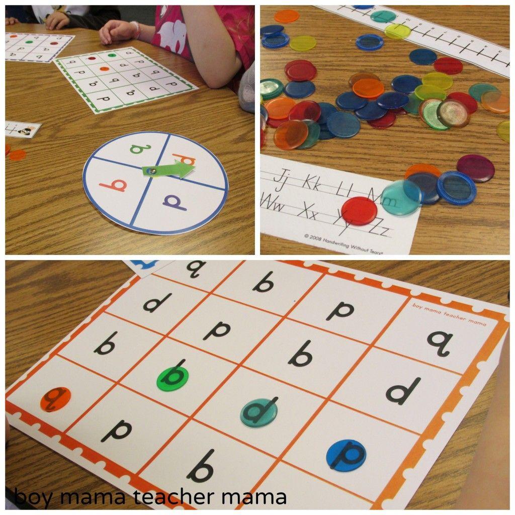 Teacher Mama Letter Reversals Bingo
