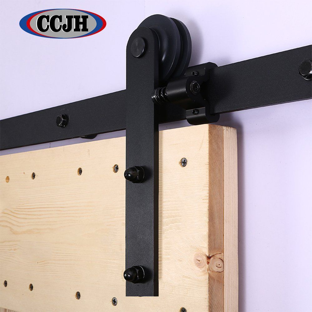 Ccjh 4ft Country Steel Sliding Barn Interior Door Hardware Black For Single Door Awesome Prod Sliding Barn Door Track Barn Door Sliding Barn Door Hardware