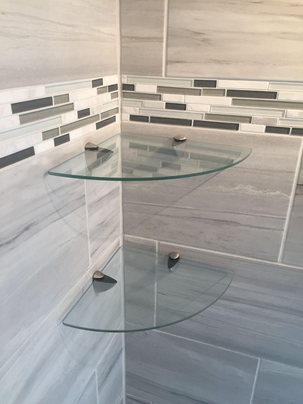 Bathroom shower glass corner shelves azonjohn