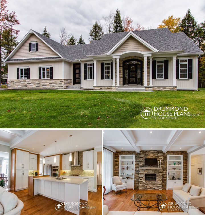 attractive rustic & country custom home plan http://www