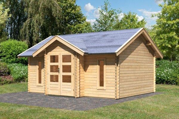 Garten haus  Woodfeeling Gartenhaus Nordland - 40 mm Blockbohlenhaus von Karibu ...