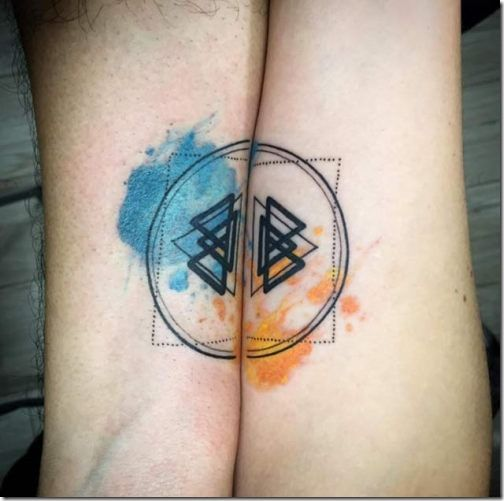 4e21a4364 34 Matching Pair Of Tattoos Of All Lovers To Admire | Tattoos ...