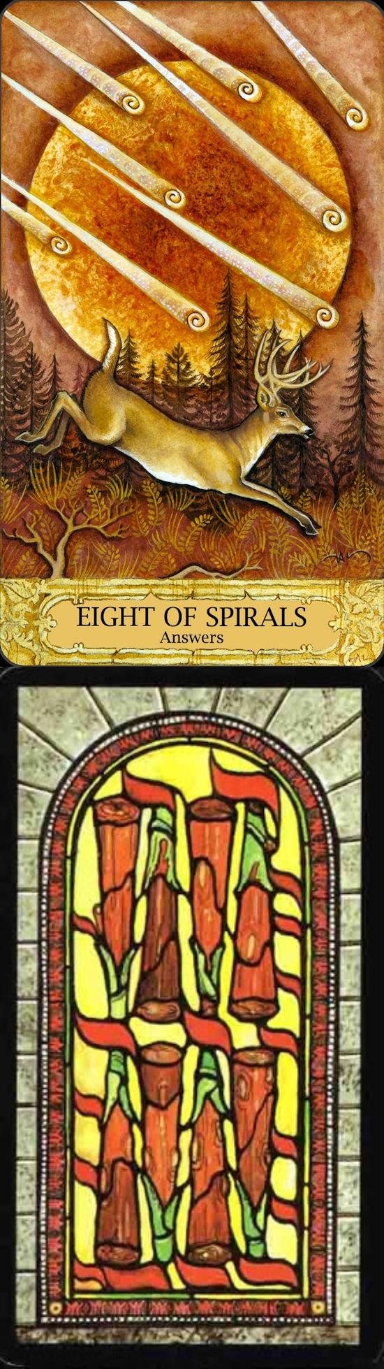 Eight of Wands: motion and waiting (reverse). Chrysalis Tarot deck and Il Tarocco Tarot deck: one card love tarot. free … | Diy tarot cards ...