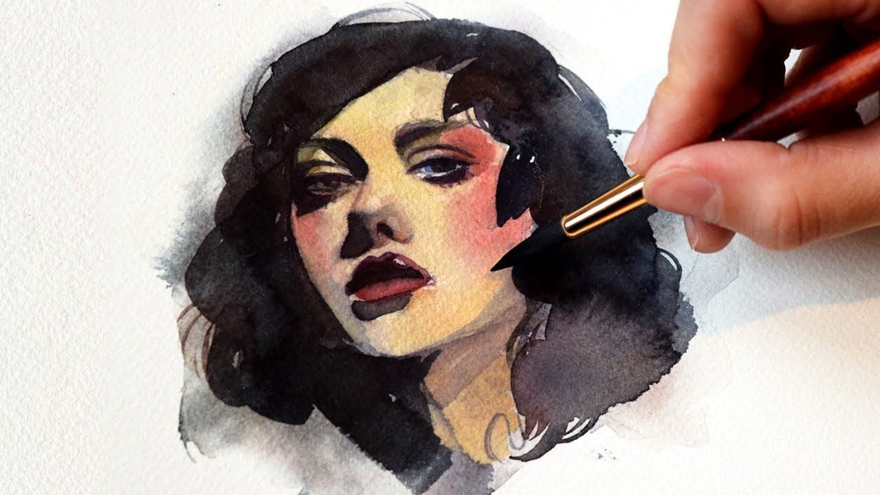 Very Easy Watercolor Portrait Study For Beginners How To Paint