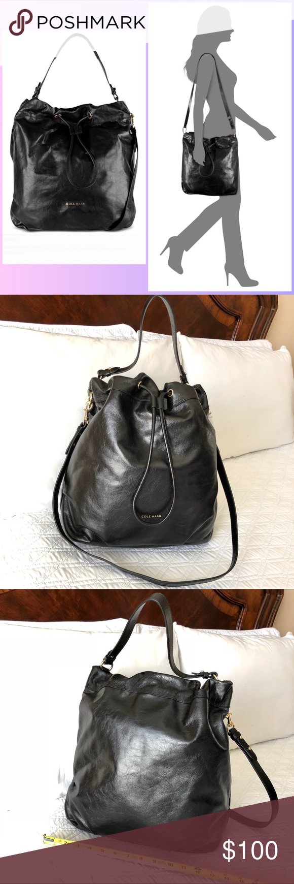 c6ba62b9d4 Authentic Cole Haan Leather Handbag Authentic! Gorgeous black leather crossbody  bag from Cole Haan.
