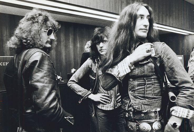 Uriah Heepin David Byron (vas.), Gary Thain ja Ken Hensley Helsingissä toukokuussa 1974 / Uriah Heep in Helsinki, May '74