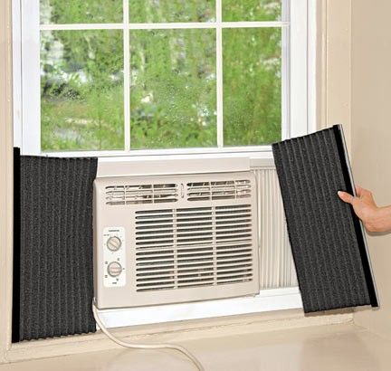 New Window Unit Ac Side Insulators Air Conditioner Foam Insulation Window Unit Air Conditioners Window Ac Unit Window Air Conditioner Installation