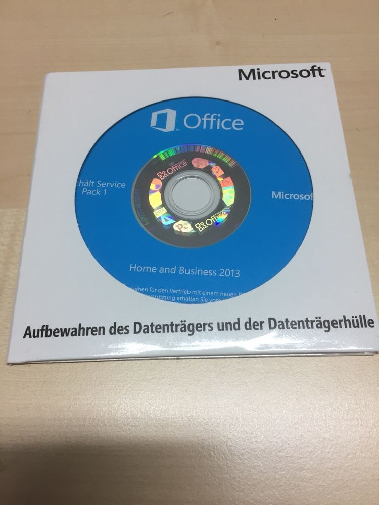 Microsoft Office Home And Business 2013 Dvd De Vollversion Mit Mwst