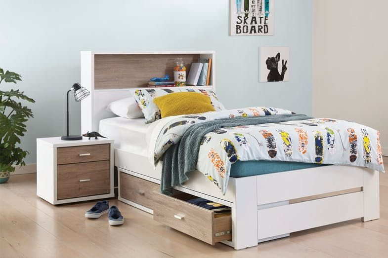 Hero Single Bed Frame With Storage Headboard By Platform 10 Bed