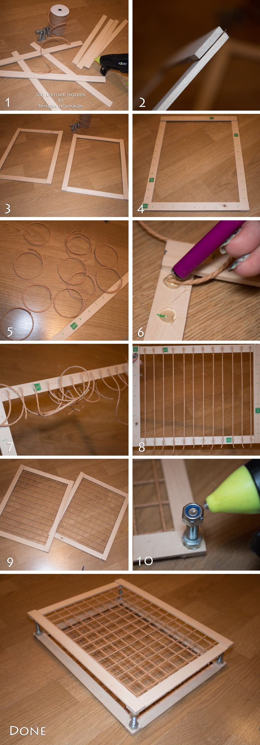 Tutorial  DIY Lipstick holder (Sandra Holmbom)