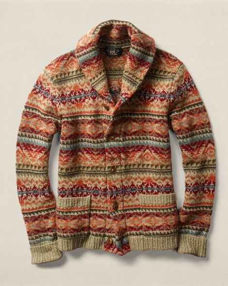 Fair Isle Wool-Blend Cardigan - RRL Cardigan & Full-Zip ...