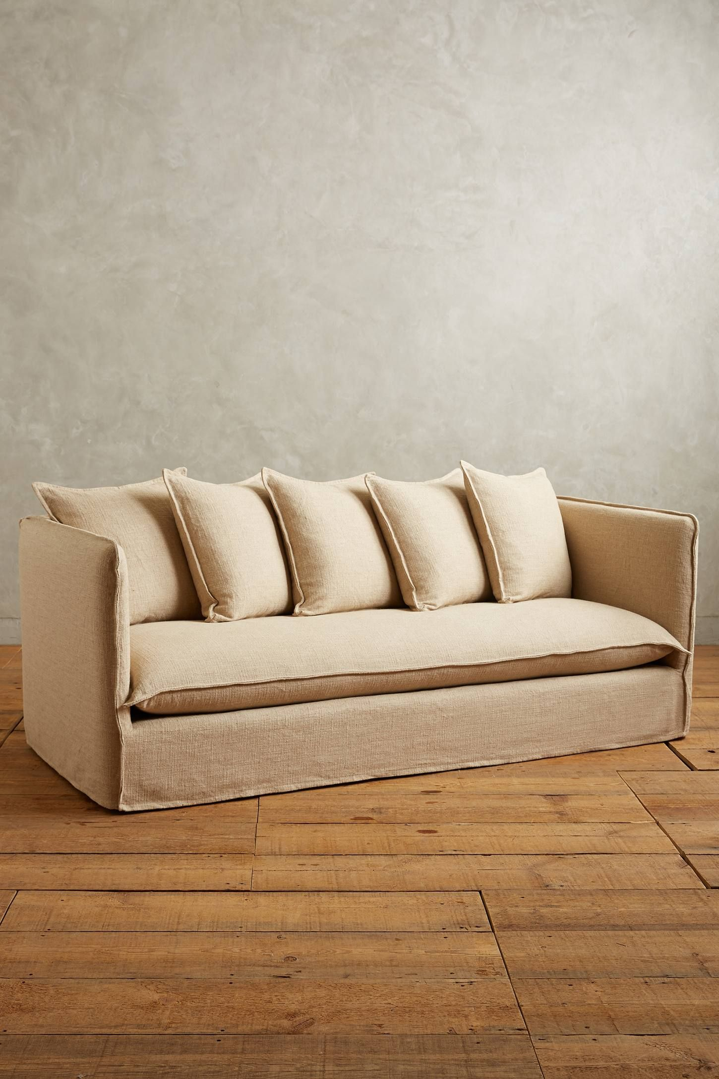 shop the basketweave linen carlier slipcover sofa and more