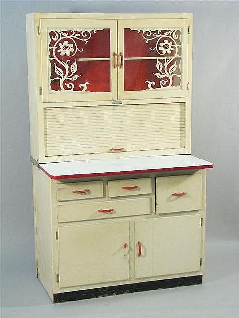 b u003ea hoosier cabinet by scheirich louisville ky with red and white rh pinterest com