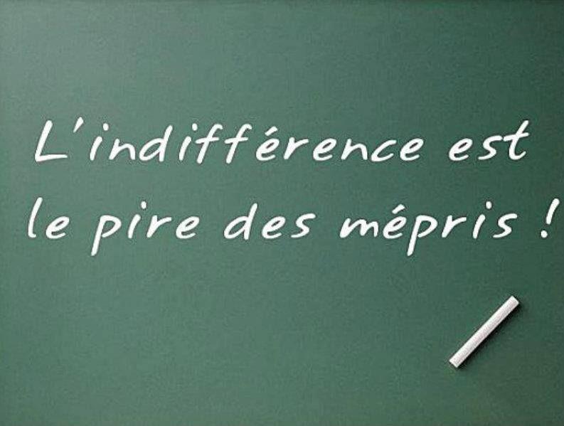L Indifference Est Le Pire Des Mepris Citation Indifference