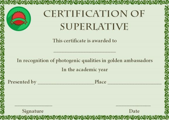 superlative award certificate template superlative certificate