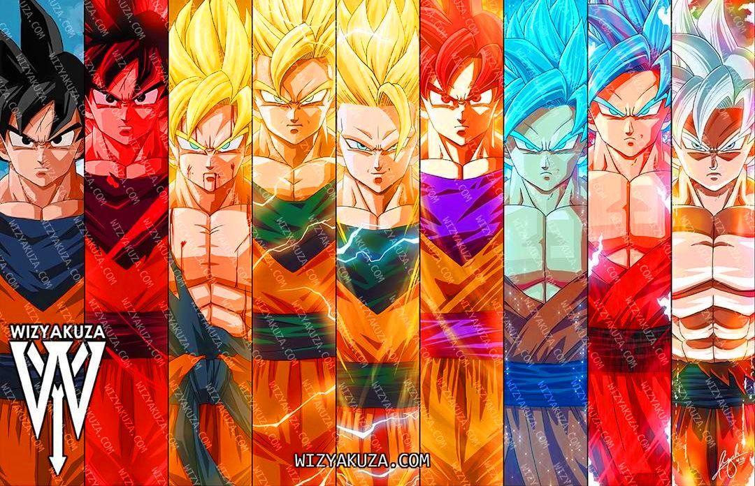 Super Goku Vegeta Saiyan Vs 9 Super Saiyan 5